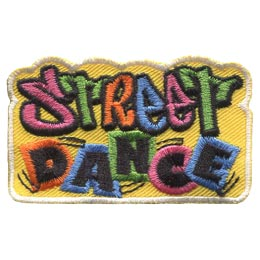 Street, Dance, Dancing, Break, Jazz, Patch, Embroidered Patch, Merit Badge, Badge, Emblem, Iron On, Iron-On, Crest, Lapel Pin, Insignia, Girl Scouts, Boy Scouts, Girl Guides