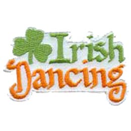 Irish Dancing, Ireland, Dance, Patch, Embroidered Patch, Merit Badge, Crest, Girl Scouts, Boy Scouts, Girl Guides