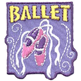Ballet, Shoes, Dance, Theatre, Stage, Perform, Merit Badge, Patch, Crest, Girl Guides, Girl Scouts
