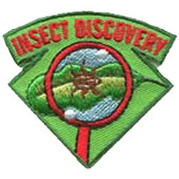 Insect, Bug, Spider, Fly, Magnifying Glass, Leaf, Nature, Patch, Embroidered Patch, Merit Badge, Crest, Girl Scouts, Boy Scouts, Girl Guides