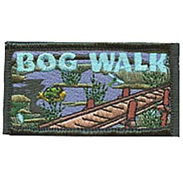 Bog Walk, Outdoor Activity, Hike, Swamp, Ecosystem, Water, Plant, Animal, Merit Badge, Patch, Crest, Girl Guides, Boy Scouts