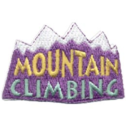 Mountain Climbing, Hike, Trees, Patch, Crest, Merit Badge