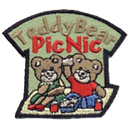 Teddy Bear Picnic, Picnic, Teddy, Bear, Summer, Blanket, Patch, Embroidered Patch, Merit Badge, Crest, Girl Scouts, Boy Scouts, Girl Guides