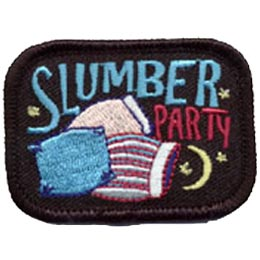 Slumber Party, Sleep, Sleepover, Sleeping Bag, Pillow, Pajamas, Girl, Boy, Patch, Merit Badge, Crest, Scouts, Guides
