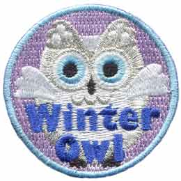 Winter,  Owl, Set, Leader, Who, Hoot, Patch, Embroidered Patch, Merit Badge, Badge, Emblem, Iron-On, Iron On, Crest, Lapel Pin, Insignia, Girl Scouts, Boy Scouts, Girl Guides
