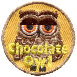 Chocolate, Owl, Set, Leader, Who, Hoot, Patch, Embroidered Patch, Merit Badge, Badge, Emblem, Iron-On, Iron On, Crest, Lapel Pin, Insignia, Girl Scouts, Boy Scouts, Girl Guides