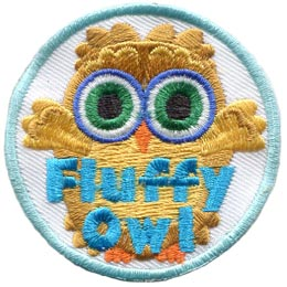 Fluff, Owl, Set, Leader, Who, Hoot, Bird, Patch, Embroidered Patch, Merit Badge, Badge, Emblem, Iron-On, Crest, Lapel Pin, Insignia, Girl Scouts, Boy Scouts, Girl Guides