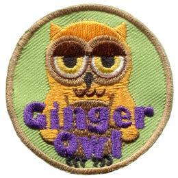 Ginger,Owl, Set, Leader, Who, Hoot, Bird, Patch, Embroidered Patch, Merit Badge, Badge, Emblem, Iron-On, Crest, Lapel Pin, Insignia, Girl Scouts, Boy Scouts, Girl Guides