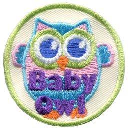 Baby, Owl, Set, Leader, Who, Hoot, Bird, Patch, Embroidered Patch, Merit Badge, Badge, Emblem, Iron-On, Crest, Lapel Pin, Insignia, Girl Scouts, Boy Scouts, Girl Guides