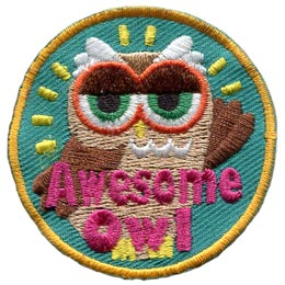 Awesome, Owl, Set, Leader, Who, Hoot, Bird, Patch, Embroidered Patch, Merit Badge, Badge, Emblem, Iron-On, Crest, Lapel Pin, Insignia, Girl Scouts, Boy Scouts, Girl Guides