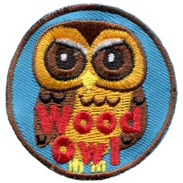 Wood, Tree, Owl, Set, Leader, Who, Hoot, Bird, Patch, Embroidered Patch, Merit Badge, Badge, Emblem, Iron-On, Crest, Lapel Pin, Insignia, Girl Scouts, Boy Scouts, Girl Guides