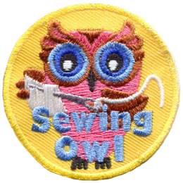 Sewing, Thread, Pattern, Needle, Owl, Leader, Who, Patch, Embroidered Patch, Merit Badge, Badge, Emblem, Iron On, Iron-On, Crest, Lapel Pin, Insignia, Girl Scouts, Boy Scouts, Girl Guides