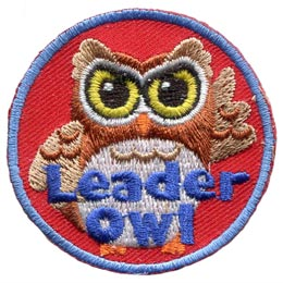 Leader, Kim, Guider, Scouter, Owl, Set, Who, Hoot, Patch, Embroidered Patch, Merit Badge, Badge, Emblem, Iron-On, Iron On, Crest, Lapel Pin, Insignia, Girl Scouts, Boy Scouts, Girl Guides