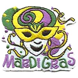 Mardi Gras - Yellow Mask