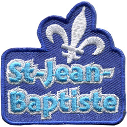 ecussons, Francais, Quebec, holiday, St-Jean Baptiste, Embroidered Patch, Merit Badge, Badge, Emblem, Iron On, Iron-On, Crest, Lapel Pin, Insignia, Girl Scouts, Boy Scouts, Girl Guides