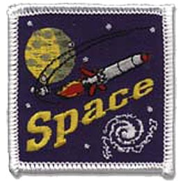 Space, Astronomy, Star, Planet, Rocket, Science, Crest, Patch, Merit Badge