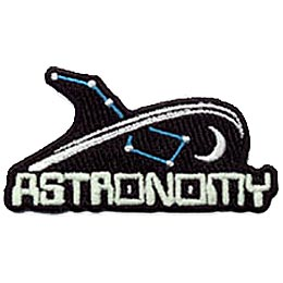 Astronomy, Space, Moon, Star, Constellation, Science, Crest, Patch, Merit Badge
