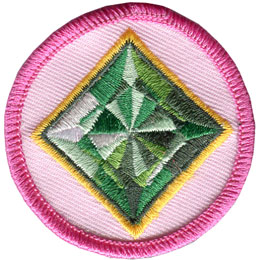 Spark, Emerald, Circle, Patrol, Patch, Embroidered Patch, Merit Badge, Badge, Emblem, Iron On, Iron-On, Crest, Lapel Pin, Insignia, Girl Scouts, Boy Scouts, Girl Guides