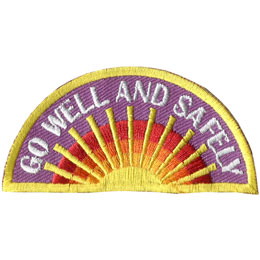 Well, Safe, Safely, Rainbow, Sun, Patch, Embroidered Patch, Merit Badge, Badge, Emblem, Iron On, Iron-On, Crest, Lapel Pin, Insignia, Girl Scouts, Boy Scouts, Girl Guides