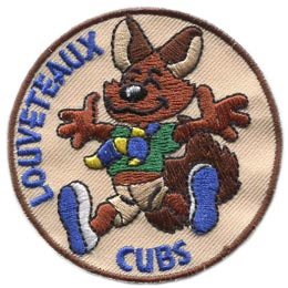 Cubs, Louveteaux, Scout, Leader, Patch, Embroidered Patch, Merit Badge, Badge, Emblem, Iron On, Iron-On, Crest, Lapel Pin, Insignia, Girl Scouts, Boy Scouts, Girl Guides
