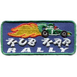 Kub, Kar, Rally, Kub Kar Rally, Kub Kar, Car, Cub, Patch, Embroidered Patch, Merit Badge, Badge, Emblem, Iron On, Iron-On, Crest, Lapel Pin, Insignia, Girl Scouts, Boy Scouts, Girl Guides