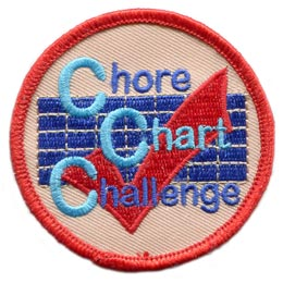 Activities for Kids,Activities,Chore Chart Challenge,Chores,Charts,Challenges,Challenges for Kids,2 Inches,Badges,Crests,Emblems,Embroidered Patches,E-Patches,Insignias,Iron On,Iron-On,Merit Badges,Patches,Girl Guides,Girl Scouts,Boy Scouts,Scouts,Girl Scout Patches,Boy Scout Patches,Scouting,Guiding,