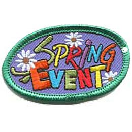 Spring Event, Special Event, flower, patch, crest, merit badge