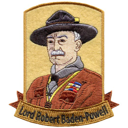 This patch depicts the portrait of Lord Robert Baden-Powell.