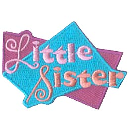 Little, Big, Sister, Friend, Patch, Embroidered Patch, Merit Badge, Iron On, Iron-On, Crest, Girl Scouts, Boy Scouts, Girl Guides