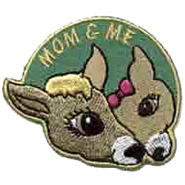 Mom & Me, Deer, Fawn, Mother, Daughter, Patch, Embroidered Patch, Merit Badge, Crest, Girl Scouts, Boy Scouts, Girl Guides
