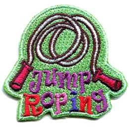 Jump Roping, Jump Rope, Rope, Jump, Skip, Skipping Rope, Patch, Embroidered Patch, Merit Badge, Badge, Emblem, Iron On, Iron-On, Crest, Lapel Pin, Insignia, Girl Scouts, Boy Scouts, Girl Guides