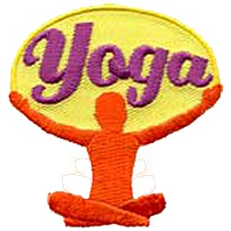 Yoga, Hatha, Fitness, Stretch, Exercise, Health, Healthy, Patch, Embroidered Patch, Merit Badge, Crest, Girl Scouts, Boy Scouts, Girl Guides