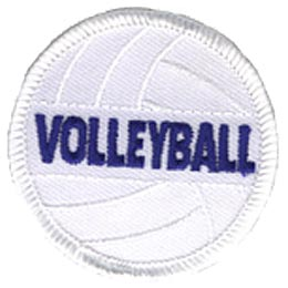 Volleyball, Ball, Sport, Net, Fitness, Patch, Embroidered Patch, Merit Badge, Crest, Girl Scouts, Boy Scouts, Girl Guides
