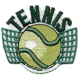Tennis, Ball, Racquet, Sport, Net, Love, Patch, Embroidered Patch, Merit Badge, Crest, Girl Scouts, Boy Scouts, Girl Guides