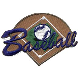 Baseball, Softball, Diamond, Ball, Bat, Mit, Base, Girl, Boy, Patch, Merit Badge, Crest, Guides, Scouts