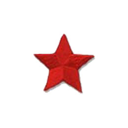 Star, Red, Patch, Embroidered Patch, Merit Badge, Badge, Emblem, Iron On, Iron-On, Crest, Lapel Pin, Insignia, Girl Scouts, Boy Scouts, Girl Guides