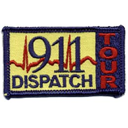 911 Dispatch Tour, Emergency, Ambulance, Police, Fire, Robber, Burglar, Patch, Embroidered Patch, Merit Badge, Crest, Girl Scouts, Boy Scouts, Girl Gu
