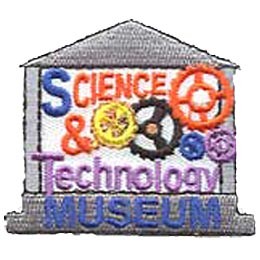 Science and Technology Museum, Patch, Embroidered Patch, Merit Badge, Crest, Girl Scouts, Boy Scouts, Girl Guides