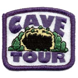Cave, Tour, Patch, Embroidered Patch, Merit Badge, Badge, Emblem, Iron On, Iron-On, Crest, Lapel Pin, Insignia, Girl Scouts, Boy Scouts, Girl Guides