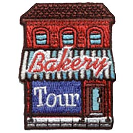 Bakery, Tour, Bake, Cook, Visit, Baking, Patch, Embroidered Patch, Merit Badge, Crest, Girl Scouts, Boy Scouts, Girl Guides