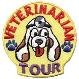 Veterinarian, Vet, Animal, Hospital, Doctor, Tour, Patch, Embroidered Patch, Merit Badge, Crest, Girl Scouts, Boy Scouts, Girl Guides