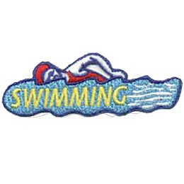 Swimming, Water, Pool, Sport, Fitness, Patch, Crest, Merit Badge