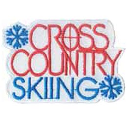 Cross Country Skiing, Skiing, Skis, Snow, Winter, Sports, Merit Badge, Patch, Crest, Girl, Boy, Scouts, Guides