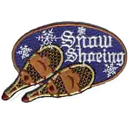 Snow Shoeing, Shoe, Winter, Sports, Snow, Snowflake, Patch, Crest, Merit Badge, Girl Scouts, Boy Scouts, Girl Guides