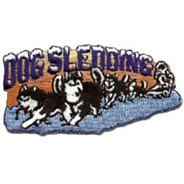 Dog Sledding, Dog, Sled, Winter, Snow, Yukon, Patch, Embroidered Patch, Merit Badge, Crest, Girl Scouts, Boy Scouts, Girl Guides