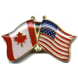 Canada, USA, Flag, Friend, Pride, Country, Patch, Embroidered Patch, Merit Badge, Badge, Emblem, Iron On, Iron-On, Crest, Lapel Pin, Insignia,  Girl S