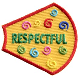 A Girl Is, Girls, Respectful, Swirls, Patches, Sets, Embroidered Patch, Merit Badge, Badges, Emblems, Iron On, Iron-On, Crests, Lapel Pins, Insignia, Girl Scouts, Boy Scouts, Girl Guides