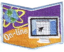 Safe, Home, Community, Online, On-line, Web, Internet, Outdoors, Water, School, Patch, Embroidered Patch, Merit Badge, Badge, Emblem, Iron On, Iron-On, Crest, Girl Guides, Girl Scouts