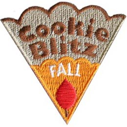 Cookie, Blitz, Fall, Leaf, Patch, Embroidered Patch, Merit Badge, Badge, Emblem, Iron On, Iron-On, Crest, Lapel Pin, Insignia, Girl Scouts, Boy Scouts, Girl Guides