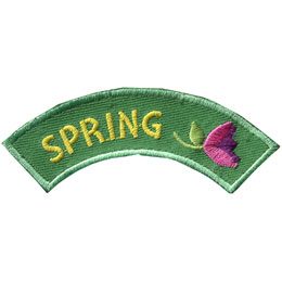 Season, Spring, Summer, Fall, Winter, Flower, Patch, Embroidered Patch, Merit Badge, Badge, Emblem, Iron On, Iron-On, Crest, Lapel Pin, Insignia, Girl Scouts, Boy Scouts, Girl Guides